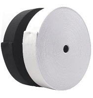 Elastic Black or White   50 Yd Rolls  Heavy duty also available
