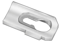 Moulding Clip For Landau Top - White Nylon -  package of 100