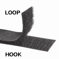 Hook And Loop Black Or White PLAIN