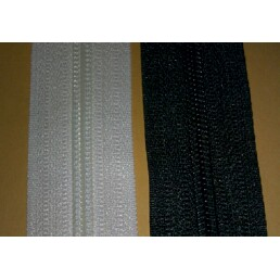 #5 Coil Chain Black Or White ZIPPER  1 1/4