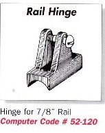 Rail Hinge for 7/8