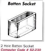 2-Hole Batten Socket