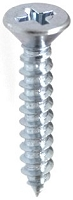 Phillips FLAT Head Tap Screw CHROME-all sizes