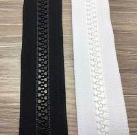YKK  #5 YKK Marine  Chain ZIPPER  Black Or White