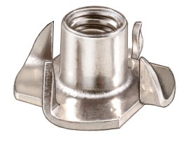Tee Nuts Stainless Steel -1/4 -20  4 Prong -  Box of 25