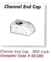 Channel Trim End Cap - .850 Track