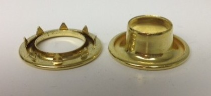 Brass Spur Grommets- Available In 5 Sizes OTHERS ARE SPECIAL ORDER