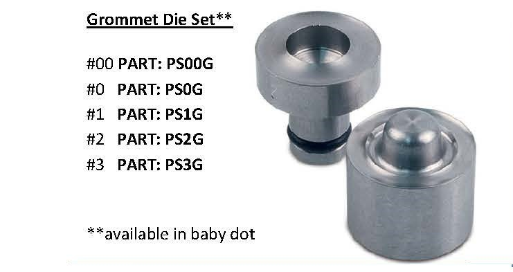 Grommet Die Set - for Press & Snap