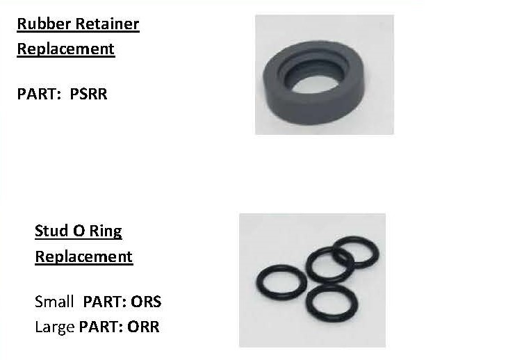 Press & Snap Rubber Retainers