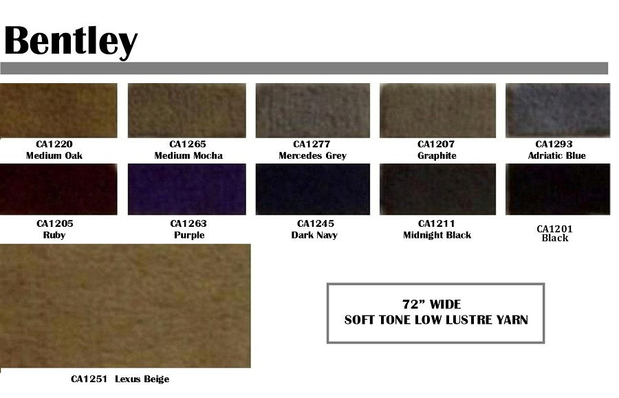 "Bentley latex backed automotive carpet - 72"" wide"