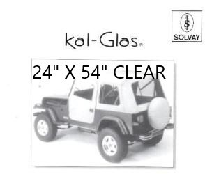 "Automotive / Convertible Clear Plastic Sheets----24"" X 54"" CLEAR"