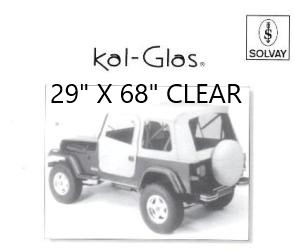 "Automotive / Convertible Clear Plastic Sheets----29"" X 68"" CLEAR"