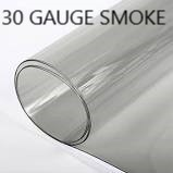 "Smoke 30 GAUGE SMOKE Clear Vinyl / Plastic Rolled Goods  54"" WIDE"
