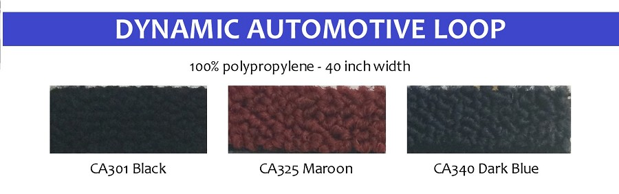 "Dynamic Loop Carpet Automotive  40"" wide"