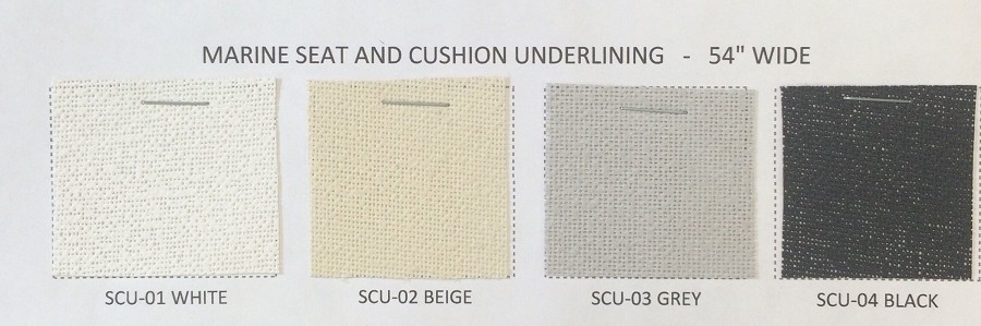 "UNDERLINING FOR MARINE SEAT AND CUSHION 54"" WIDE"